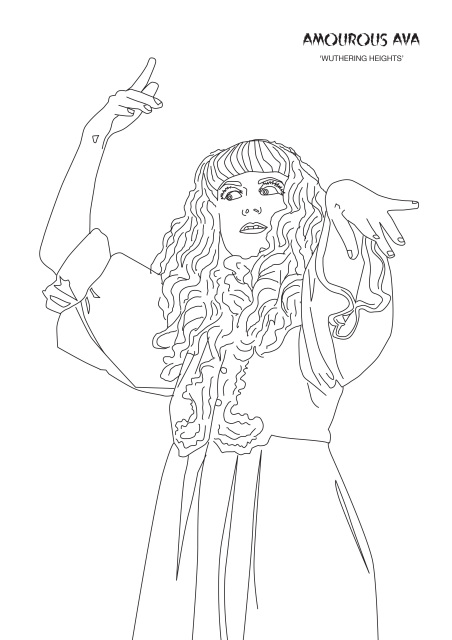 ava coloring pages | Colouring with Amourous Ava